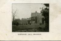 Downham Hall Postcard